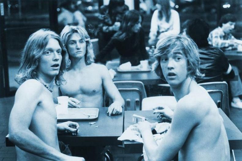 "Eric Stoltz, Sean Penn, Anthony Edwards in ""Fast Times at Ridgemont High."""